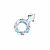 Swarovski Stone 4878 Male Symb 18x11.5mm Crystal Aurora Borealis U 4Pcs